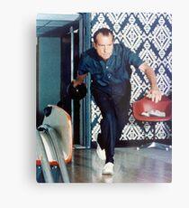 Richard Nixon Bowling Metal Print