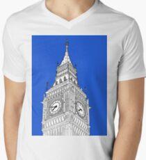 London Big Ben - Line Art Men's V-Neck T-Shirt