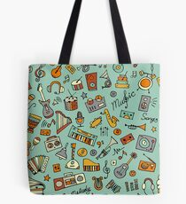 Music pattern Tote Bag