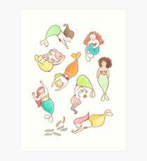 plus size mermaids Art Print