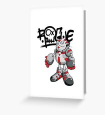 "Robobot ""Off to Mars"" / Bot / Rogue Robot Greeting Card"