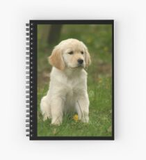 Golden Retriever! Puppy! Spiral Notebook
