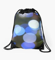 Bubbles of Light  Blue Drawstring Bag