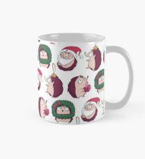 Christmas Holiday Hedgehog Pattern Classic Mug