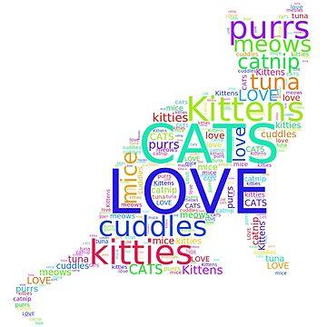 I Love Cats - Cat Lover's Delight by LolaAndJenny
