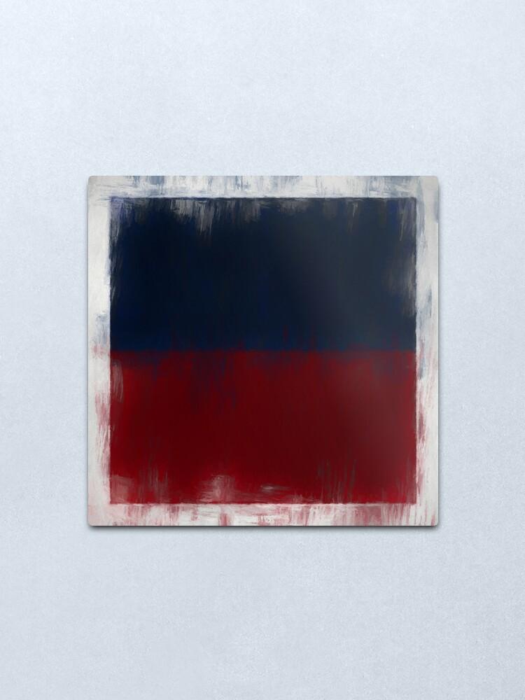 Alternate view of Haiti Flag Reworked No. 2, Series 2 Metal Print