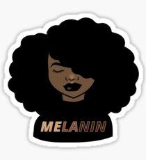 Melanin Afro Woman Shades Drippin Melanin Shirt, Melanin Poppin, Black Girl Magic Sticker