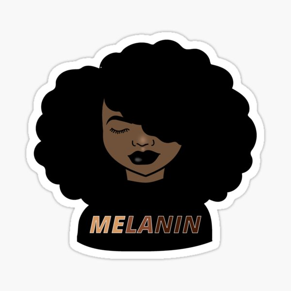 Melanin Afro Woman Shades Drippin, Melanin Poppin, Black Girl Magic Sticker