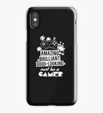 Funny Video Game T Shirt Gamer Love Vintage Retro Humor Joke iPhone Case/Skin