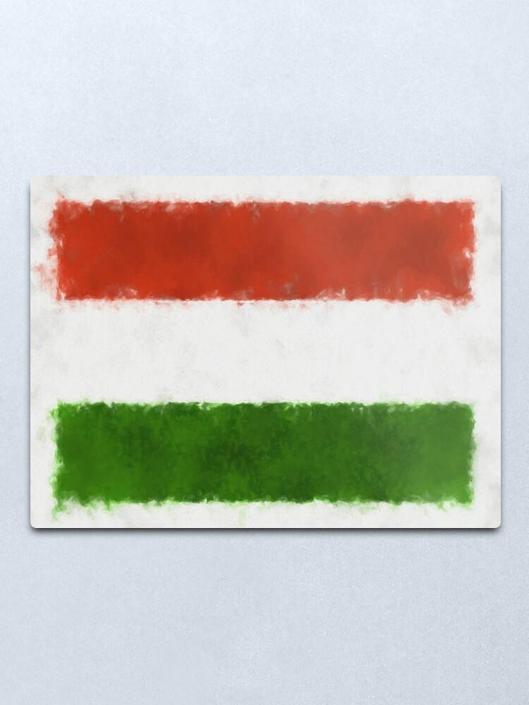 Alternate view of Hungary Flag Reworked No. 66, Series 5 Metal Print
