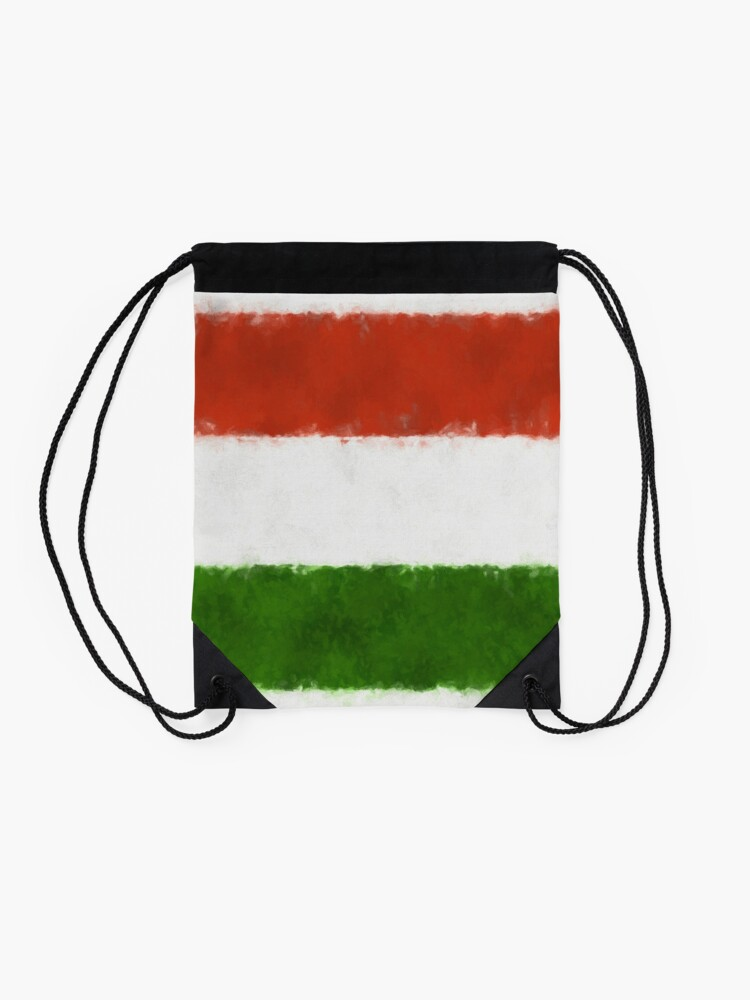 Alternate view of Hungary Flag Reworked No. 66, Series 5 Drawstring Bag
