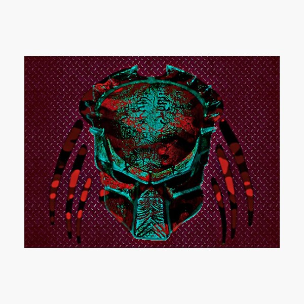 Soldier Predator Teal Red Photographic Print