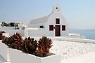 Crisp White Church, Oia, Santorini, Greece by Carole-Anne