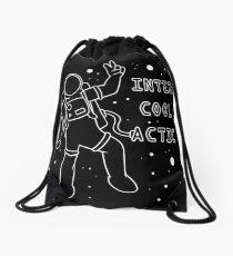 Inter-Cool-Actic - White - Text Drawstring Bag
