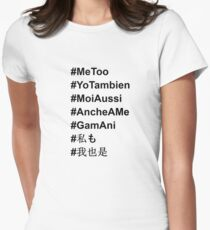 #MeToo in All Languages Women's Fitted T-Shirt