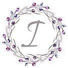 Monogramm-Buchstabe I | Personalisiert | Aquarell Design von PraiseQuotes