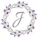 Monogramm-Buchstabe J | Personalisiert | Aquarell Design von PraiseQuotes