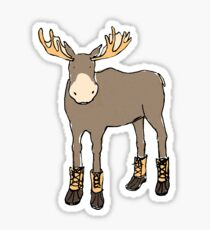 Moose in Boots Sticker