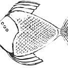 PCB THE THREE-EYED FISH by erinthomasart