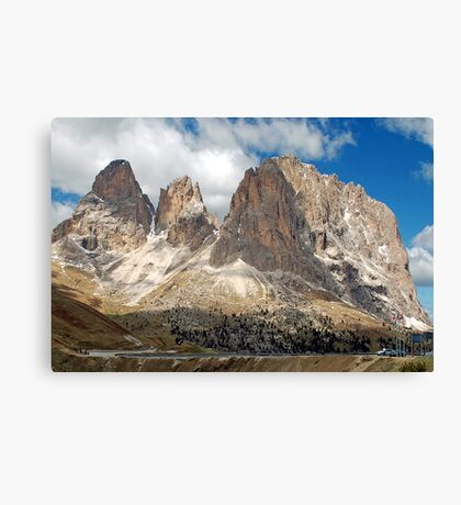 On top of the Sella pass Canvas Print