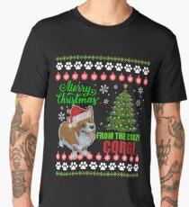 Merry Christmas From Corgi Dog Ugly Sweater T Shirt Men's Premium T-Shirt