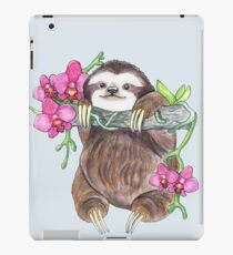 Happy Sloth with orchids iPad Case/Skin