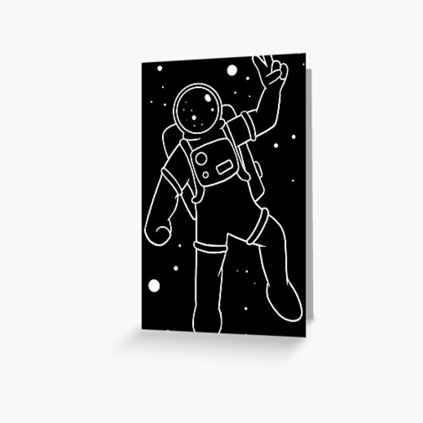 Inter-Cool-Actic - White Greeting Card