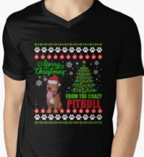 Merry Christmas From Pitbull Dog Ugly Sweater T Shirt Gift T-Shirt