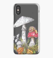 Mushrooms and a snail - 4erta iPhone Case/Skin