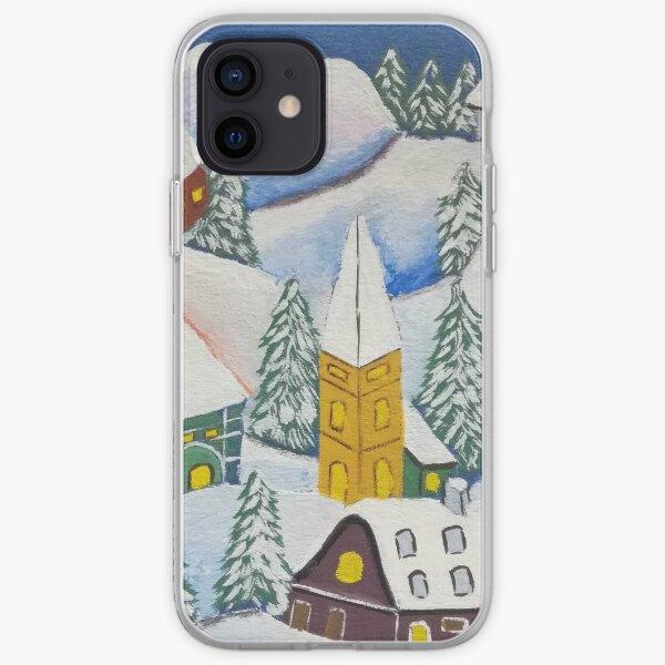 Paysage d'hiver Coque souple iPhone