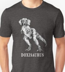 Doxisaurus, Dachshund + Tyrannosaurus Rex Hybrid Animal T-Shirt