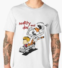 Calvin & Hobbes Back To The Future Men's Premium T-Shirt