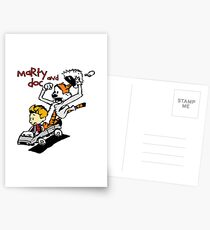 Calvin & Hobbes Back To The Future Postcards