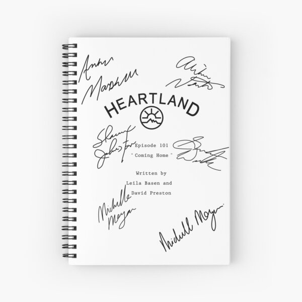 Heartland Script Spiral Notebook