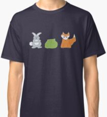 Riddle Me This... A Man has a rabbit, fox, and a cabbage.  Classic T-Shirt