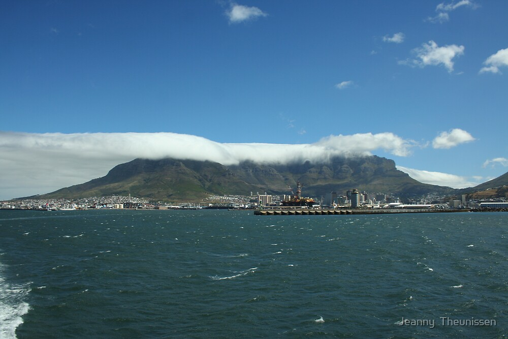 Blanket over Table Mountain by Jeanny  Theunissen