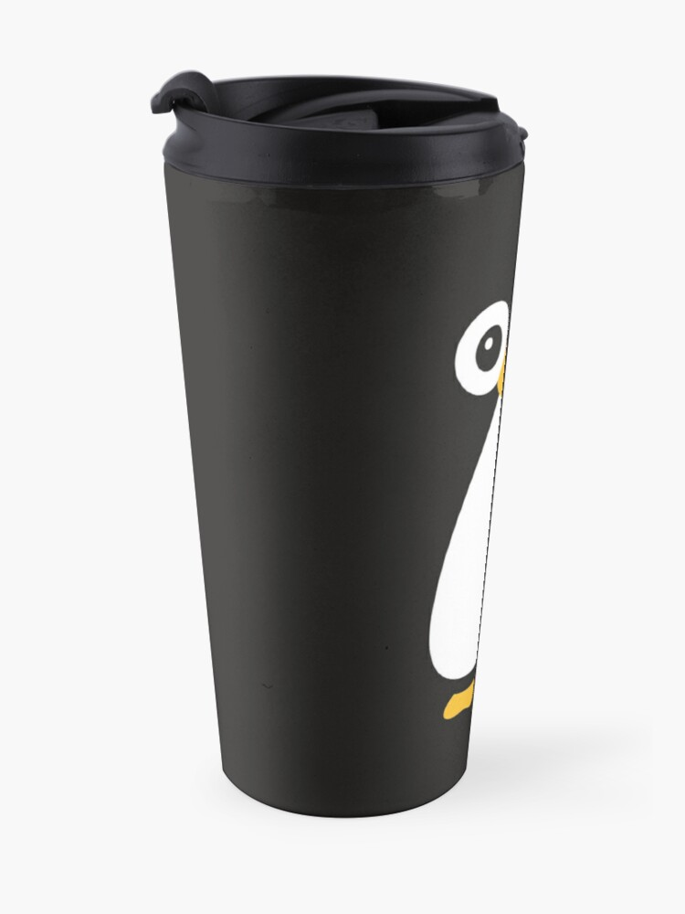 Alternate view of Cute Vector Penguin Travel Mug