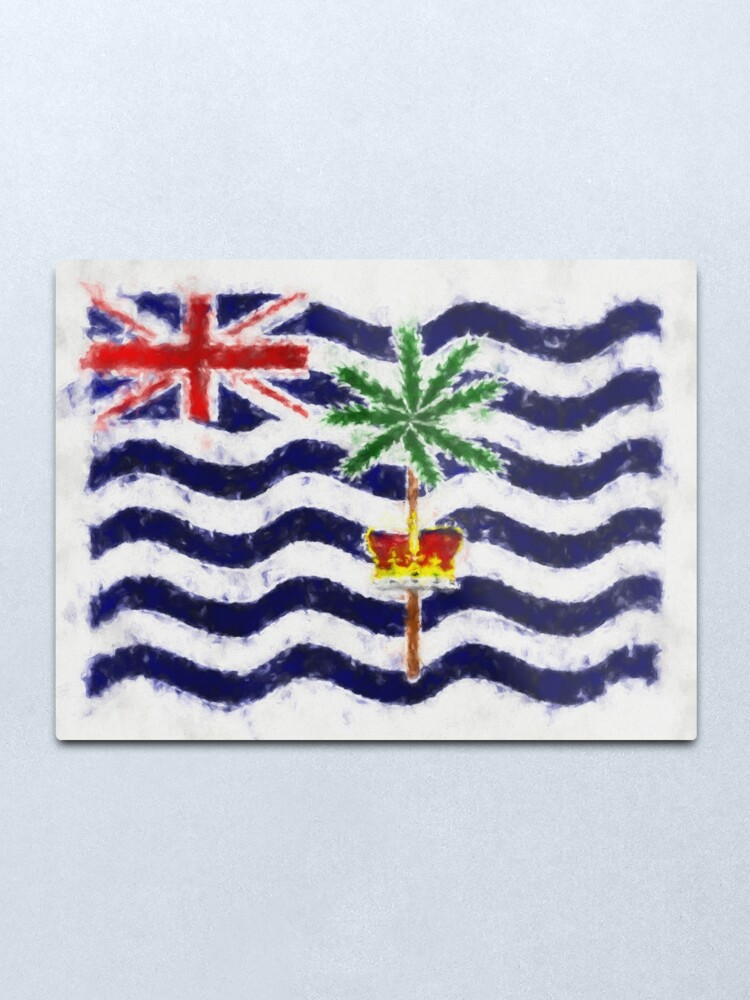 Alternate view of British Indian Ocean Territory Flag Reworked No. 66, Series 5 Metal Print