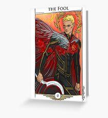 r0-Fool Greeting Card