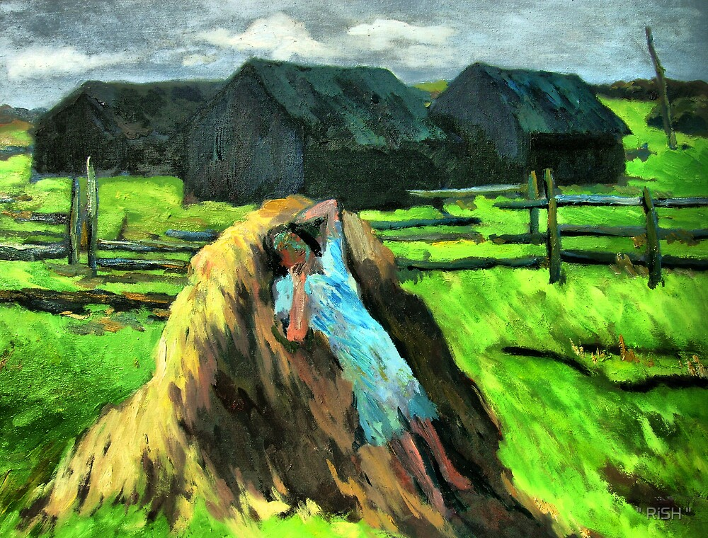 """Girl on hay stack by """" RiSH """""""