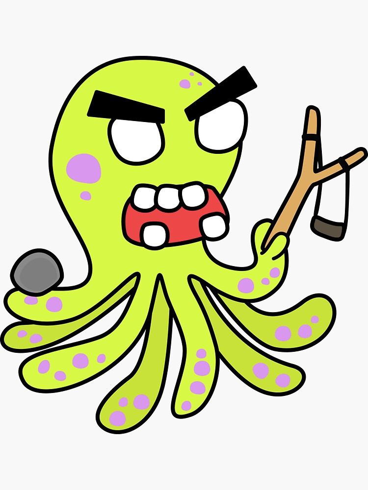 angry zombie octopus by shortstack
