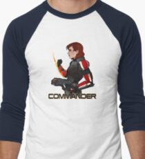 Commander Jane Shepard Men's Baseball ¾ T-Shirt