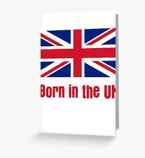 Born in the UK - Kids T-shirt Baby Onesie Greeting Card