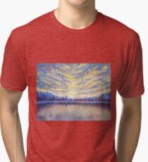 Stillness - Original Acrylic Painting Tri-blend T-Shirt