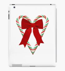 Candy Cane Heart with Bow iPad Case/Skin
