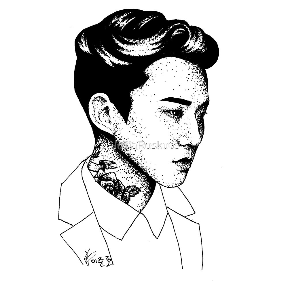 2PM Lee Junho Dotwork by JulijaRuskute