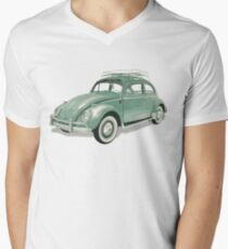 Green Beetle VW | Cars Men's V-Neck T-Shirt