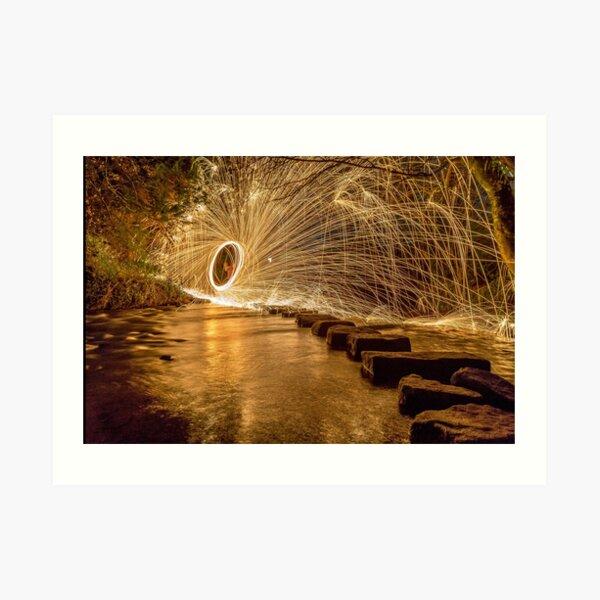 Stepping Stones - Steel Wool Photography Art Print