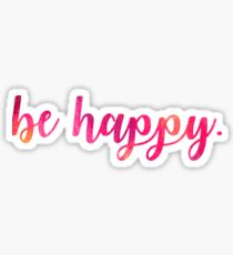 Be Happy Script Letters  Sticker