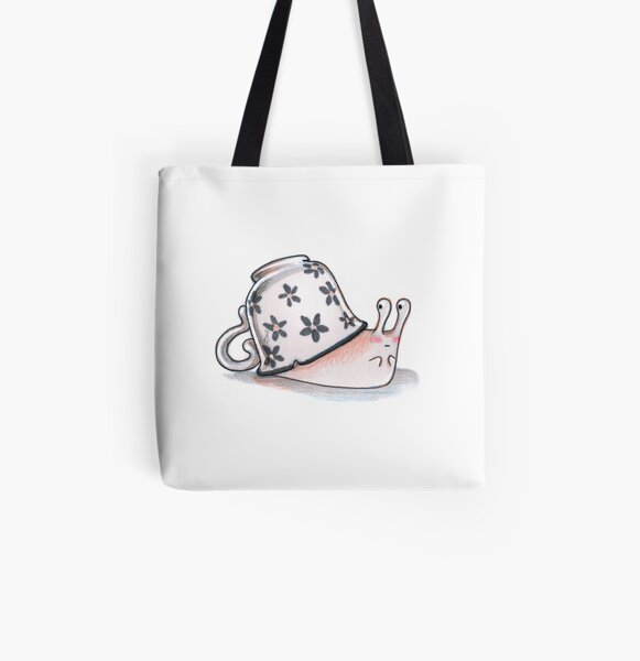 Shy Snail All Over Print Tote Bag